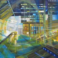 cityscape $3450 Oil on canvas 100 * 150 cm