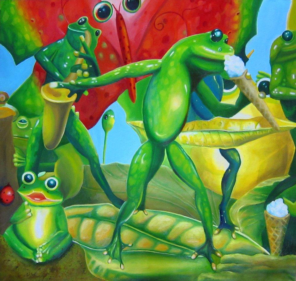I Scream Ice Cream $1150 Oil on canvas 97 * 90 cm