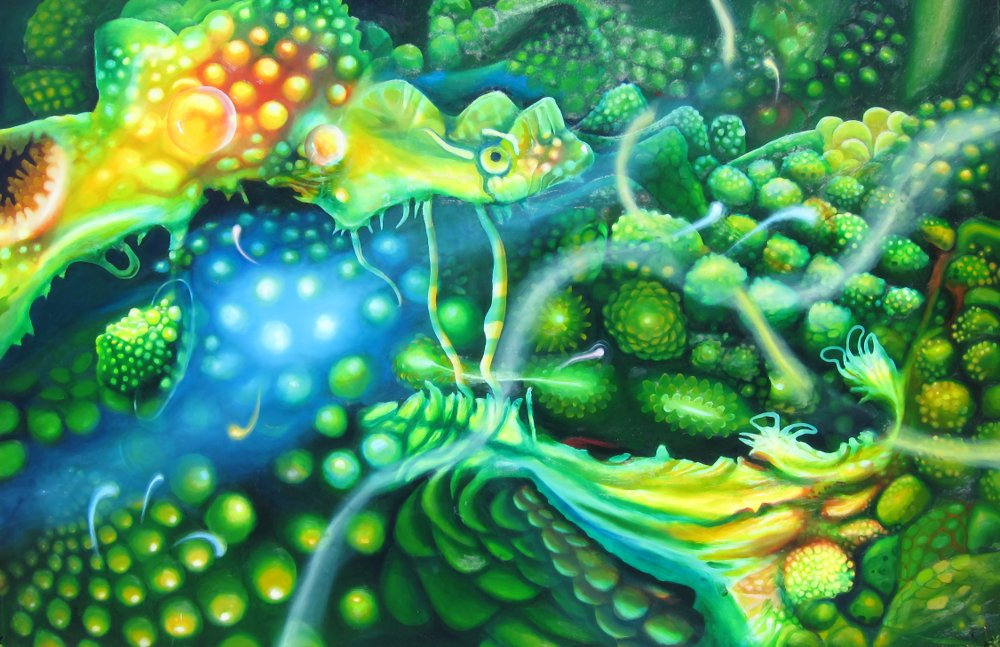 Aquamarine $3000 100 * 150 cm Oil on canvas
